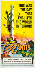 "Movie Posters:Science Fiction, The Deadly Mantis (Universal International, 1957). Three Sheet (41""X 81"").. ..."