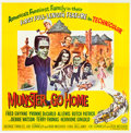 "Movie Posters:Comedy, Munster, Go Home (Universal, 1966). Six Sheet (81"" X 81"").. ..."
