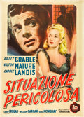 "Movie Posters:Film Noir, I Wake Up Screaming (20th Century Fox, Late 1940s). First Post-WarItalian 2 - Foglio (39"" X 55"").. ..."