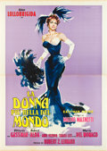 "Movie Posters:Comedy, Beautiful But Dangerous (G.E.S.I. Cinematografica, 1955). Italian 4- Foglio (55"" X 78"").. ..."