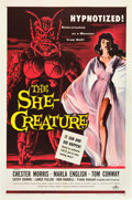 "Movie Posters:Science Fiction, The She-Creature (American International, 1956). One Sheet (27"" X 41"").. ..."