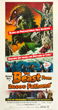 "Movie Posters:Science Fiction, The Beast from 20,000 Fathoms (Warner Brothers, 1953). Three Sheet (41"" X 81"").. ..."