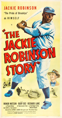 "The Jackie Robinson Story (Eagle Lion, 1950). Three Sheet (41"" X 81"")"