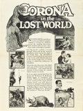 """Movie Posters:Science Fiction, The Lost World (First National, 1925). Advance Promotional Poster (28"""" X 38"""") Rotogravure.. ..."""