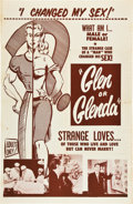 "Movie Posters:Exploitation, Glen or Glenda (Screen Classics Inc., 1953). One Sheet (27"" X41"").. ..."