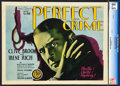 "Movie Posters:Crime, The Perfect Crime (Film Booking Offices, 1928). CGC Graded Title Lobby Card (11"" X 14"").. ..."