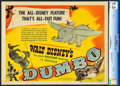 "Movie Posters:Animation, Dumbo (RKO, 1941). CGC Graded Title Lobby Card (11"" X 14"").. ..."