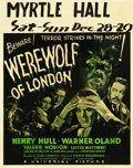 "Movie Posters:Horror, Werewolf of London (Universal, 1935). Jumbo Window Card (22"" X 28"").. ..."