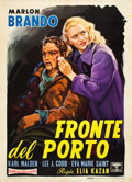 "Movie Posters:Academy Award Winners, On the Waterfront (Columbia, R-1960). Italian 2 - Foglio (39"" X55"").. ..."