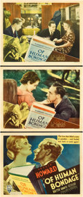 "Movie Posters:Drama, Of Human Bondage (RKO, 1934). Title Lobby Card and Lobby Cards (2)(11"" X 14"").. ... (Total: 3 Items)"