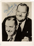 "Movie Posters:Comedy, Laurel and Hardy (Circa 1950s). Autographed Photo (6.5"" X 8.5"")....."