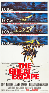 "The Great Escape (United Artists, 1963). Three Sheet (41"" X 81"")"