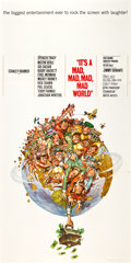 "Movie Posters:Comedy, It's a Mad, Mad, Mad, Mad World (United Artists, 1963). Flat FoldedThree Sheet (41"" X 81"").. ..."