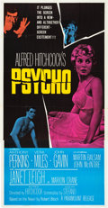 "Movie Posters:Hitchcock, Psycho (Paramount, 1960). Three Sheet (41"" X 81"").. ..."