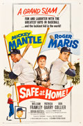 """Movie Posters:Sports, Safe at Home (Columbia, 1962). One Sheet (27"""" X 41"""").. ..."""