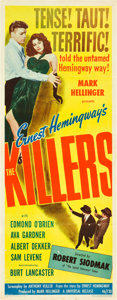 "Movie Posters:Film Noir, The Killers (Universal, 1946). Insert (14"" X 36"").. ..."