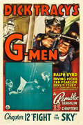 "Movie Posters:Serial, Dick Tracy's G-Men (Republic, 1939). One Sheet (27"" X 41""). Chapter12 - ""Fight in the Sky."". ..."