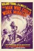 "Movie Posters:Fantasy, The Man Who Could Work Miracles (United Artists, 1936). One Sheet (27"" X 41"").. ..."