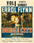 "Movie Posters:Western, Dodge City (Warner Brothers, 1939). Jumbo Window Card (22"" X 28"").. ..."