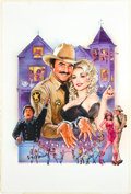 "Movie Posters:Musical, The Best Little Whorehouse in Texas (Universal, 1982). Original DanGoozee Art (27"" X 40""), One Sheet (27"" X 41""), Lobby Car... (Total:7 Items)"