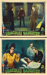 "Dracula's Daughter (Universal, 1936). Two Lobby Cards (11"" X 14""). ... (Total: 2 Items)"