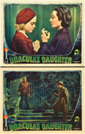 "Movie Posters:Horror, Dracula's Daughter (Universal, 1936). Two Lobby Cards (11"" X 14"")..... (Total: 2 Items)"