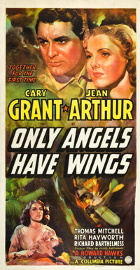 "Only Angels Have Wings (Columbia, 1939). Three Sheet (41"" X 81"")"