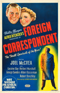 "Movie Posters:Hitchcock, Foreign Correspondent (United Artists, 1940). Australian One Sheet(26.5"" X 40"").. ..."