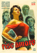 "Movie Posters:Drama, Bitter Rice (Lux Film, 1950). Italian Foglio (27.5"" X 39.5"").. ..."