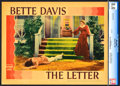 """Movie Posters:Film Noir, The Letter (Warner Brothers, 1940). CGC Graded Lobby Card (11"""" X14"""").. ..."""