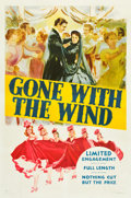 "Movie Posters:Academy Award Winners, Gone with the Wind (MGM, 1940). One Sheet (27"" X 41"") Style DP.. ..."