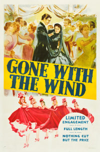 """Gone with the Wind (MGM, 1940). One Sheet (27"""" X 41"""") Style DP"""