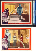 "Movie Posters:Science Fiction, The Day the Earth Stood Still (20th Century Fox, 1953). Lobby Cards (2) With One CGC Graded (11"" X 14"").. ... (Total: 2 Items)"