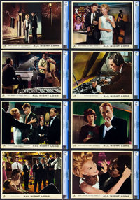 "All Night Long (Colorama, 1963). CGC Graded British Lobby Card Set of 8 (11"" X 14""). ... (Total: 8 Items)"