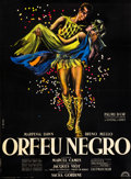 "Movie Posters:Drama, Black Orpheus (Lux, 1959). French Grande (47"" X 63"").. ..."