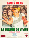 "Movie Posters:Drama, Rebel Without a Cause (Warner Brothers, R-1963). French Grande (47""X 63"").. ..."