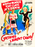 """Movie Posters:Comedy, Some Like It Hot (United Artists, 1959). French Grande (47"""" X 63"""")Style B.. ..."""