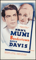 "Movie Posters:Crime, Bordertown (Warner Brothers, R-1938). One Sheet (24.5"" X 41""). Crime.. ..."