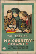 """Movie Posters:Drama, My Country First (Unity Sales, 1916). One Sheet (28"""" X 41.5""""). Drama.. ..."""