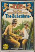 "Movie Posters:Western, The Substitute (Unicorn Film Service, Circa 1912). One Sheet (27.5"" X 41""). Western.. ..."