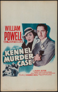"""The Kennel Murder Case (Warner Brothers, R-1942). Window Card (14"""" X 22""""). Mystery"""