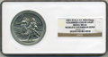 Expositions and Fairs, 1893 Illinois Columbus Lead by Light Medal MS63 NGC. World's Columbian Expo. E-37, WM 65mm...