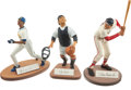 Baseball Collectibles:Others, Griffey, Musial and Berra Signed Salvino Figurines Lot of 3....