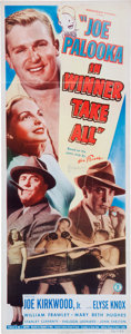 Memorabilia:Poster, Joe Palooka in Winner Take All Movie Poster (Monogram,1948)....