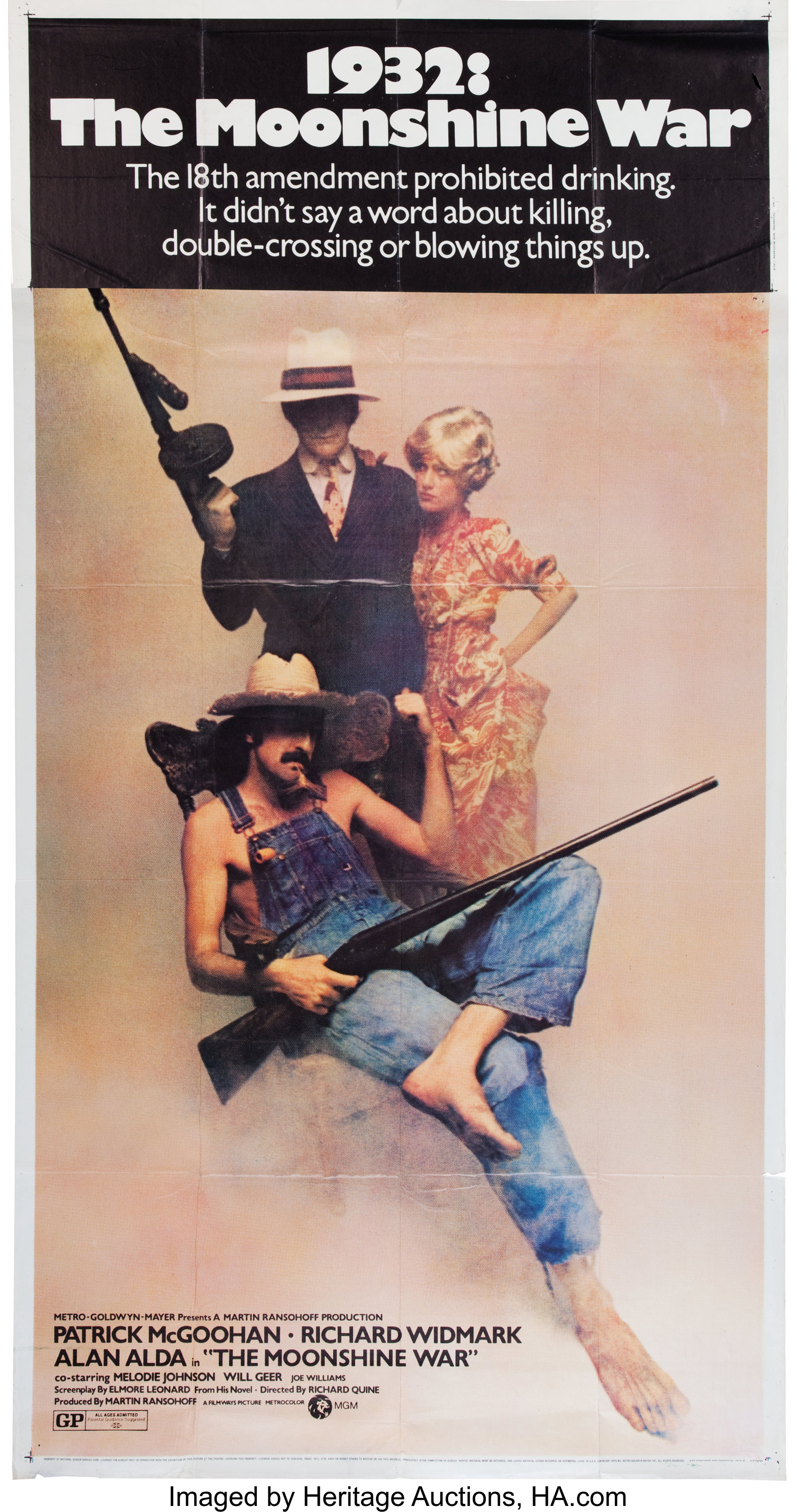 Moonshine War Movie Poster (Filmways, 1970).... Memorabilia Poster | Lot  #10629 | Heritage Auctions