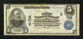 National Bank Notes:Kentucky, Covington, KY - $5 1902 Plain Back Fr. 598 The First NB Ch. #(S)718. ...