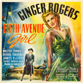 "Movie Posters:Comedy, Fifth Avenue Girl (RKO, 1939). Six Sheet (81"" X 81"").. ..."