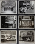 """Movie Posters, RKO Palace Theater Lot by Hal Campbell (RKO Palace, 1945-1962). Photos (6) (8"""" X 10"""").. ... (Total: 6 Items)"""