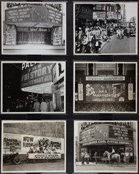 """RKO Palace Theater Lot by Hal Campbell (RKO Palace, 1945-1962). Photos (6) (8"""" X 10""""). ... (Total: 6 Items)"""