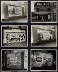 """Movie Posters, RKO Palace Theater Lot (RKO Palace, 1946-1961). Photos (6) (8"""" X 10"""").. ... (Total: 6 Items)"""